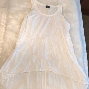 Anthropologie white flows tank tunic